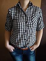 Рубашка женская в клетку 48р , доставка по Украине