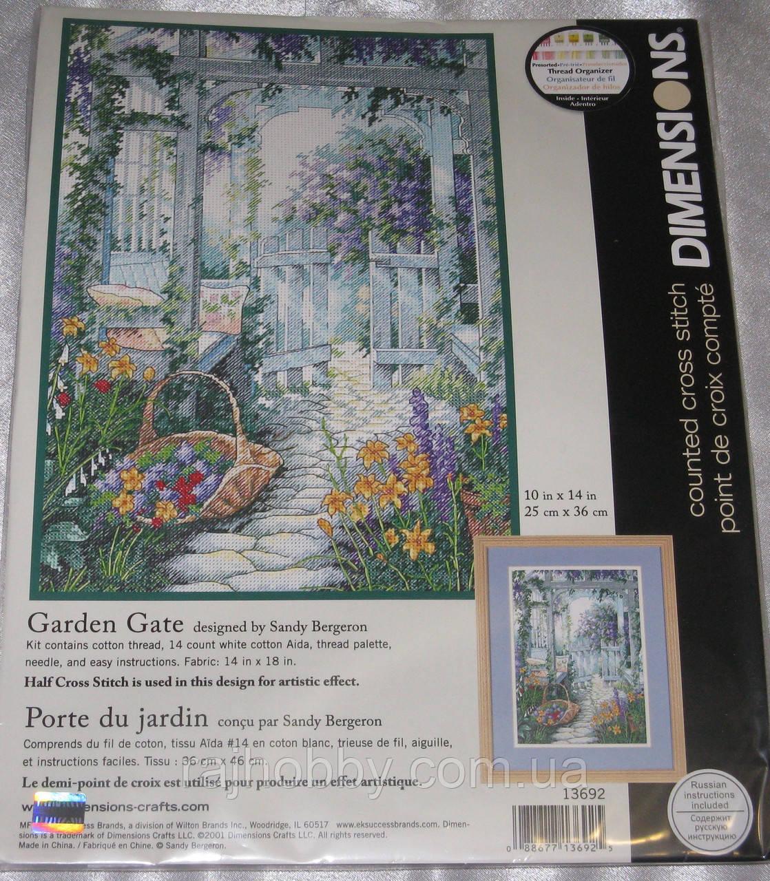 Dimensions Набор для вышивки крестом Садовые ворота 13692