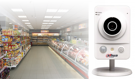 Монтаж ip-видеонаблюдения на 8 камер для магазина
