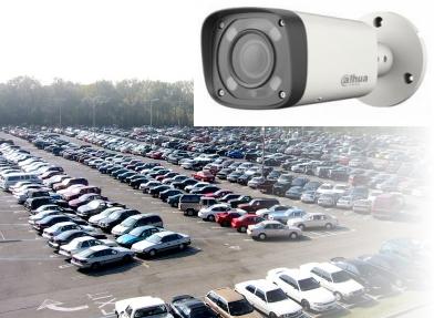 Монтаж аналогового видеонаблюдения высокой четкости на 16 камер для автостоянки в Днепропетровске