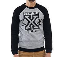 Свитшот принт Straight edge (с начесом), фото 1