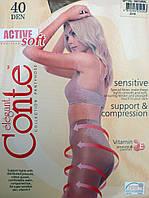Капроновые колготки Conte Active 40 Den. Р-р 5,6.