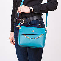 Бирюзовая сумка клатч малая кросс-боди на плечо №1367