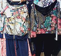Детские цветные велюровые костюмы  для девочек 5-10 лет S1957