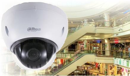 Монтаж IP-видеонаблюдение на 32 камеры для торгового центра в Днепропетровске