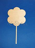 Панно цветок на ножке №1 заготовка для декупажа и декора
