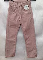 Коттоновые брюки на девочек Персик