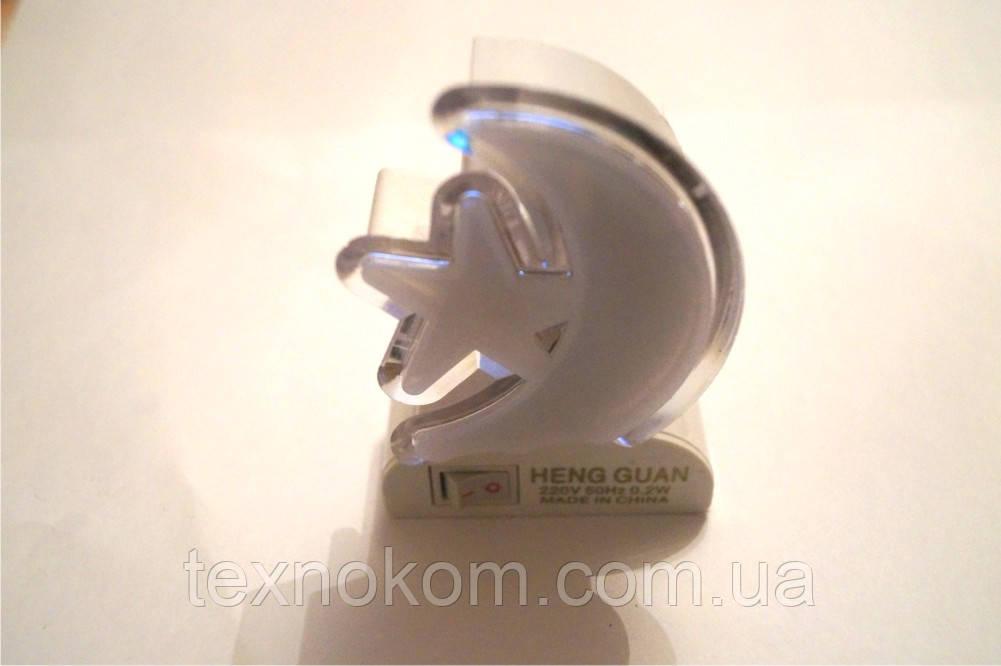 Ночники светодиодный Полумесяц 220В с выключателем - Техноком в Харькове
