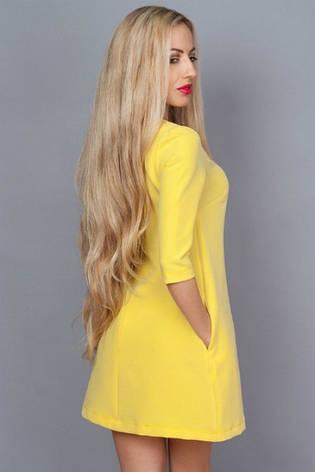 Молодежное платье желтое, фото 2