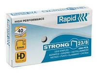 Скобы усиленные Rapid 23/08, уп. 1000 шт., толщина скрепления до 40 листов.