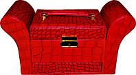 Кейс для украшений фигурный раскладной красный KS-045 YRE, раскладная шкатулка для украшений из кож.заменителя