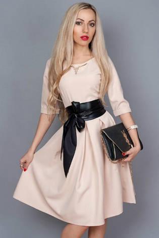 Женское платье с кожаным поясом, фото 2