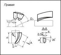 Пластина твердосплавная напайная 36350 ВК8