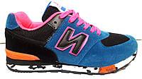 Кроссовки женские синие с розовым модные New Balance NB0009
