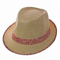 Женская шляпа красная полоска