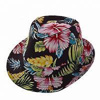 Женская шляпа Цветы черная