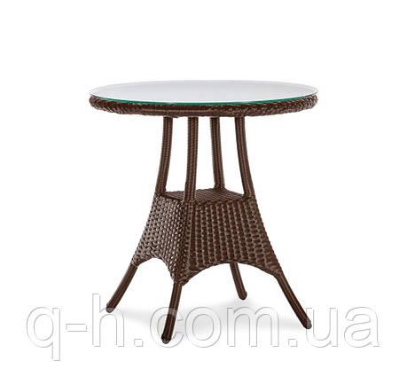 Стол круглый плетеный из искусственного ротанга barselona, фото 2