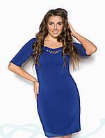 Элегантное весеннее платье Батал 48,50,52,54., фото 1