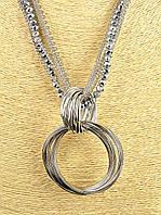 Большой кулон кольцо на цепочках