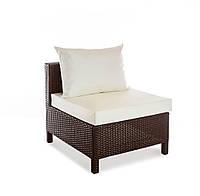 Прямой элемент плетеного дивана Egypt из искусственного ротанга 70x80x70 см