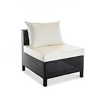 Плетеный элемент прямой дивана из искусственного ротанга Egypt