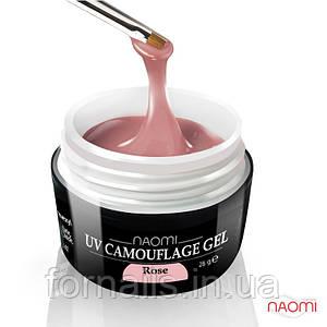Камуфляжный Гель Naomi - UV Camouflage Rose 28г (розовый)