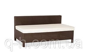 Прямой плетеный двухместный диван из искусственного ротанга Egypt, фото 2