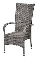 Садовое кресло серок с высокой спинкой, выс. 108 см