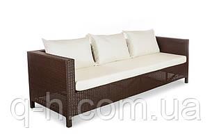 Плетеный диван из искусственного ротанга Египет трехместный 220см (Egypt - 12), фото 2