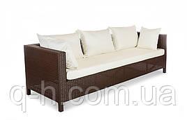 Плетеный диван из искусственного ротанга Египет трехместный 220см (Egypt - 12)