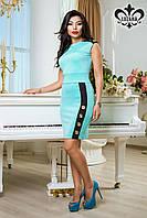 Платье женское трикотажное цвет мята