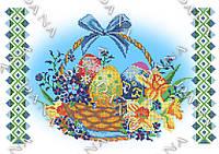 Схема для вышивки бисером пасхальной салфетки 3251. ЦВЕТЫ НА ПАСХУ, фото 1