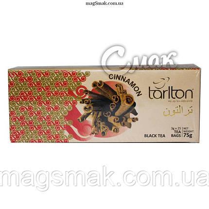 Чай Tarlton (Тарлтон) чёрный с корицей, 3 г*25 пак., фото 2