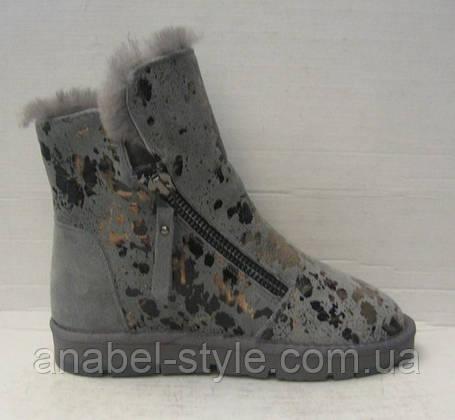 Ботинки - криперсы женские серые натуральная замша Код 119 м, фото 2