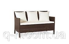 Плетеный диван из искусственного ротанга 128 см Кипр (Kipr-02), фото 2