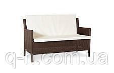 Плетеный диван из искусственного ротанга 128 см Кипр (Kipr-02), фото 3