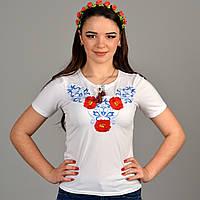 Красивая футболка вышиванка в украинском стиле с маками Юлия 507f6773578c6