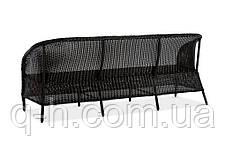 Диван плетеный Mexico из искусственного ротанга черный, фото 3
