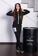 Костюм женский куртка и штаны с принтом сублимация