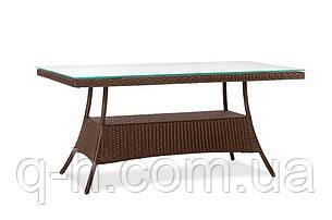 Стол обеденный Milano плетеный из искусственного ротанга, фото 2