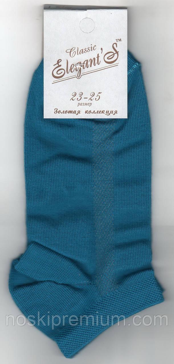 Носки женские демисезонные х/б Элегант, 23-25 размер, короткие чешка, индиго, 916