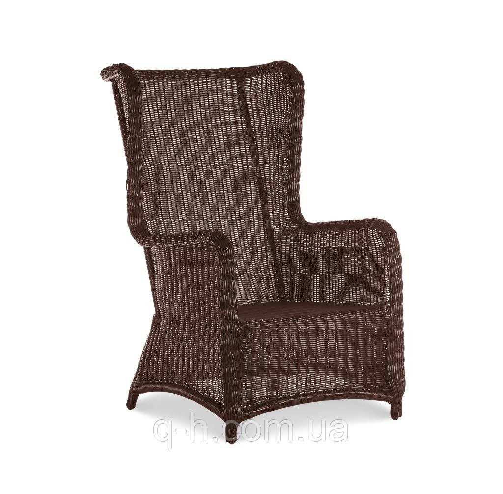 Плетеное кресло из искусственного ротанга с высокой спинкой Лондон 64x93x110 см (london)