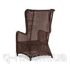 Плетеное кресло из искусственного ротанга с высокой спинкой Лондон 64x93x110 см (london), фото 3