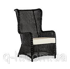 Плетеное кресло LONDON с высокой спинкой из искусственного ротанга, фото 2