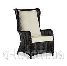 Плетеное кресло LONDON с высокой спинкой из искусственного ротанга, фото 3
