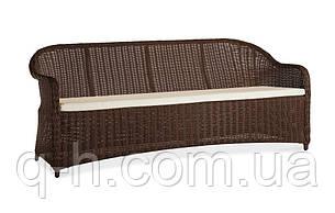 Диван трехместный плетеный из искусственного ротанга 188 см Севилья (Sevilia-01), фото 2