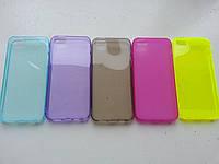 Силиконовый чехол на iphone 5/5s с заглушками в цветах, фото 1