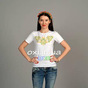 "Футболка вышиванка ""Юля"" белая KRAYKA, фото 2"