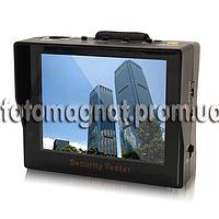 """Security CCTV тестер с монитором 3,5"""" — для камер, с креплением на руку"""