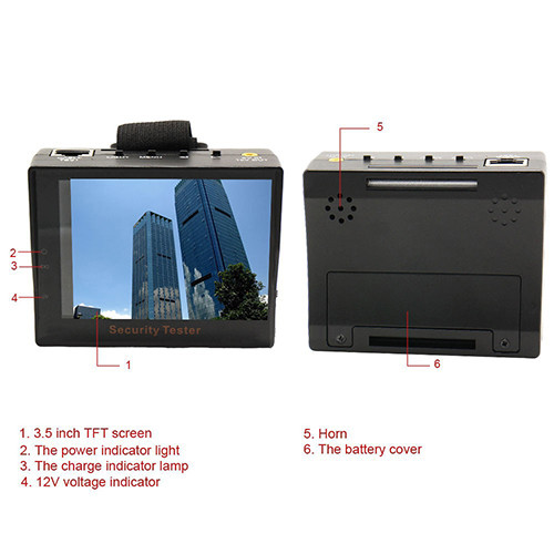 Security CCTV тестер с монитором
